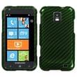 Insten® Phone Protector Case For Samsung i937 (Focus S), Racing Fiber/Green Silver