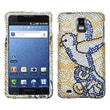 Insten® Diamante Phone Protector Case For Samsung I997/Infuse 4G, Clever Bird