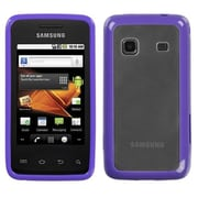 Insten® Gummy Case For Samsung M820 Galaxy Prevail, Transparent Clear/Solid Purple