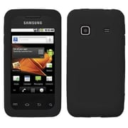 Insten® Solid Skin Case For Samsung M820 Galaxy Prevail, Black