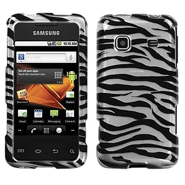 Insten® Phone Protector Case For Samsung M820 Galaxy Prevail, Zebra Skin Silver