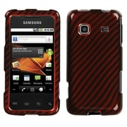 Insten® Phone Protector Case For Samsung M820 Galaxy Prevail, Racing Fiber/Red Silver