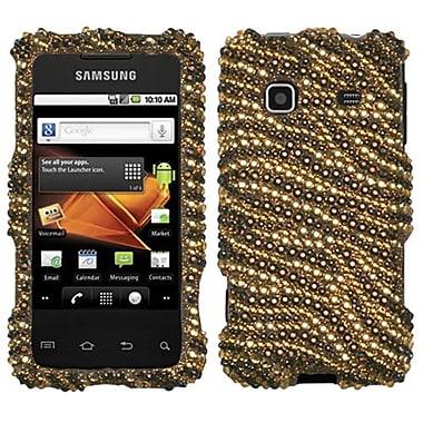Insten® Diamante Phone Protector Case For Samsung M820 Galaxy Prevail, Tiger Skin Camel/Brown