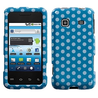 Insten® Phone Protector Case For Samsung M820 Galaxy Prevail, Blue/White Dots