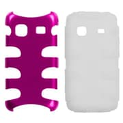 Insten® Metallic Fishbone Phone Protector Case For Samsung M820 Galaxy Prevail, Pink/Clear