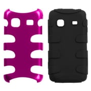 Insten® Metallic Fishbone Phone Protector Case For Samsung M820 Galaxy Prevail, Pink/Black