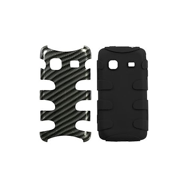 Insten® Fishbone Phone Protector Case For Samsung M820 Galaxy Prevail, Racing Fiber Silver/Black