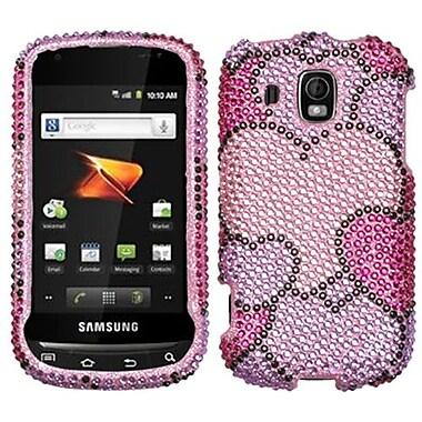 Insten® Diamante Protector Case For Samsung M930 (Transform Ultra), Cloudy Hearts