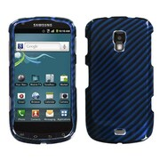 Insten® Phone Protector Case For Samsung R930 (Galaxy S Aviator), Racing Fiber/Blue Silver