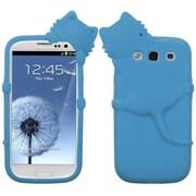 Insten® Skin Case For Samsung Galaxy SIII, Baby Blue Cat Peeking Pets