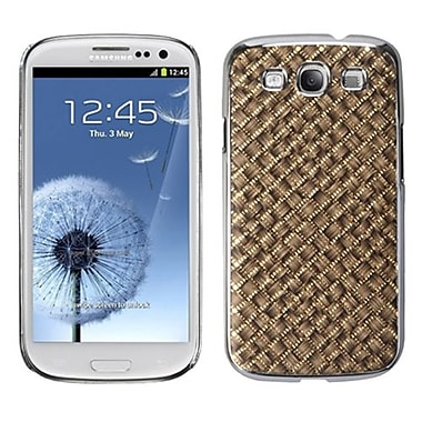 Insten® Executive Back Protector Case For Samsung Galaxy SIII, Brown Silver Plating Plaid/Golden