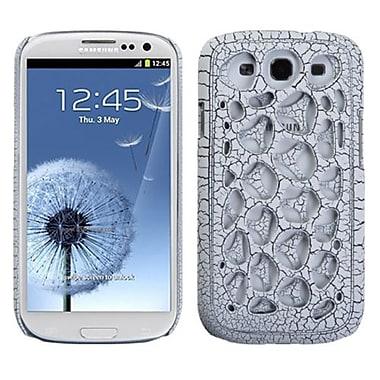 Insten® Synapse Case For Samsung Galaxy SIII, White Ridged