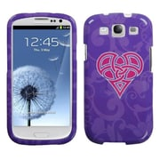 Insten® Phone Protector Case For Samsung Galaxy SIII, Purple Celtic Heart Knot