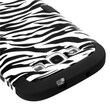 Insten® Hybrid Phone Protector Case For Samsung Galaxy SIII, Zebra Skin/Black