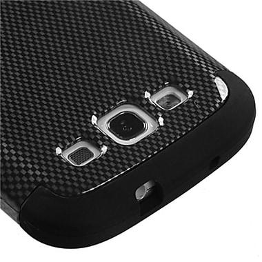 Insten® Hybrid Phone Protector Case For Samsung Galaxy SIII, Black Carbon Fiber