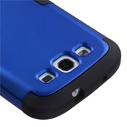 Insten® Hybrid Phone Protector Case For Samsung Galaxy SIII, Titanium Dark Blue/Black