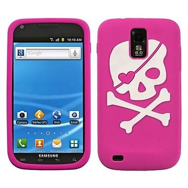 Insten® Pastel Skin Case For Samsung T989 Galaxy S2, Hot-Pink Big Skull