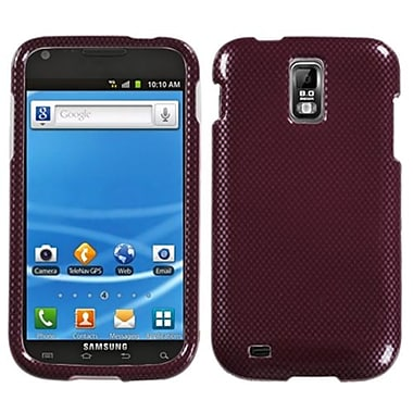 Insten® Phone Protector Case For Samsung T989 Galaxy S2, Red Carbon Fiber