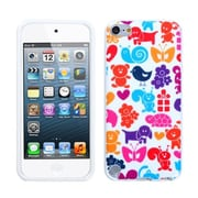 Insten® TPU Plastic Gummy Skin Phone Cover For iPod Touch 5th Gen, Animal Paradise