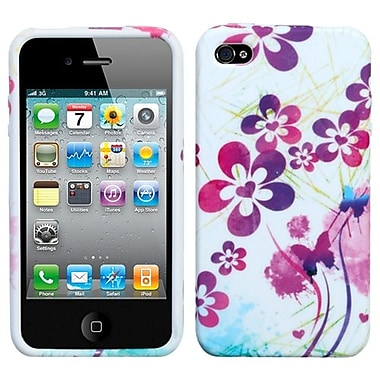 Insten® Candy Skin Cover F/iPhone 4/4/4SG, Artistic Flowers