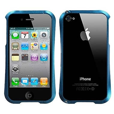 Insten® Chrome Coating Metal Shield Protector Cover F/iPhone 4/4S, Baby Blue Nitro