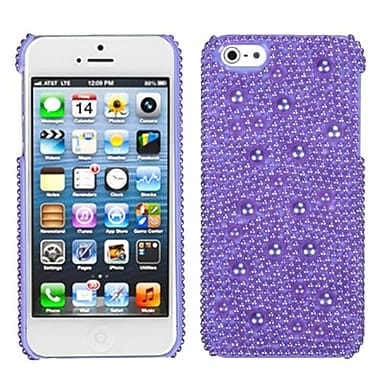 Insten® Pearl Diamante Back Protector Cover F/iPhone 5/5S, Baby Purple