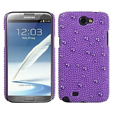 Insten® Diamante Back Protector Case For Samsung Galaxy Note II, Baby Purple Pearl