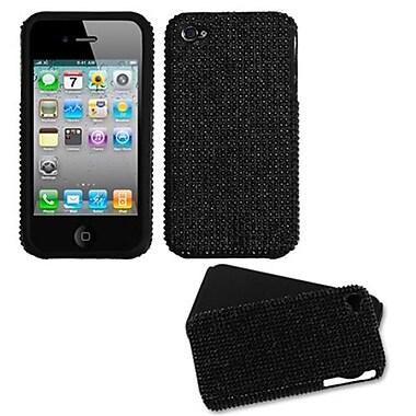 Insten® Diamante Fusion Faceplate Case F/iPhone 4/4/4SG, Black