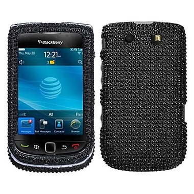 Insten® Diamante Protector Case For RIM BlackBerry 9800/9810, Black