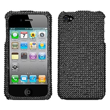 Insten® Diamante Protector Cover F/iPhone 4/4S, Black