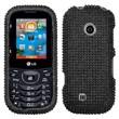 Insten® Protective Hard Case For LG Cosmos2 VN251, Gloss Black Diamond Rhinestone