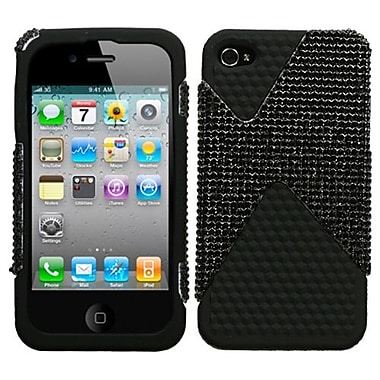Insten® Diamante/Diamond Veins Dual Protector Cover F/iPhone 4/4S, Black