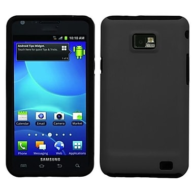 Insten® Rubberized Fusion Faceplate Case For Samsung I777 Galaxy S2 AT&T, Black