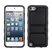 Insten® Gummy Armor Stand For iPod Touch 5th Gen, Black