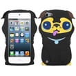 Insten® Pekinese Pastel Skin Cover For iPod Touch 5th Gen, Black