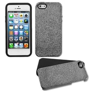 Insten® Fusion Protector Cover F/iPhone 5/5S, Black Plating Matte Wrinkle/Black