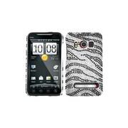 Insten® Diamante Faceplate Case For HTC EVO 4G, Black Zebra Fusion