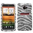 Insten® Diamante Protector Case For HTC EVO 4G LTE, Black Zebra