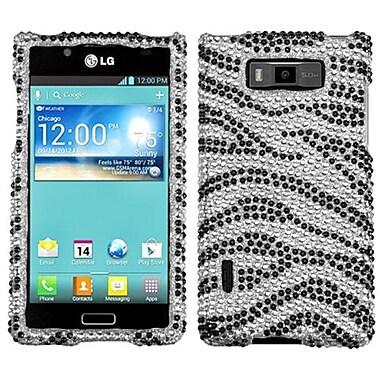 Insten® Diamante Protector Case For LG US730 Splendor/730 Venice, Black Zebra