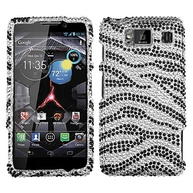 Insten® Diamante Protector Case For Motorola Droid RAZR HD XT926W, Black Zebra