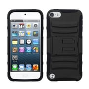 Insten® Hybrid Rugged Cover With Stand For iPod Touch 5th Gen, Black