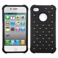 Insten® Luxurious Lattice Dazzling TotalDefense Protector Covers F/iPhone 4/4S
