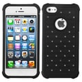 Insten® Luxurious Lattice Dazzling TotalDefense Protector Covers F/iPhone 5/5S