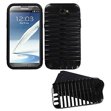 Insten® Microphone Fusion Protector Cover For Samsung Galaxy Note II, Black/Black