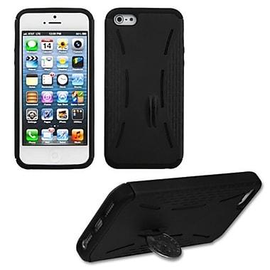 Insten® Fusion Rubberized Protector Covers W/Quarter Stand F/iPhone 5/5S