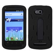 Insten® Symbiosis Stand Protector Case For Coolpad 5860E Quattro 4G, Black/Black