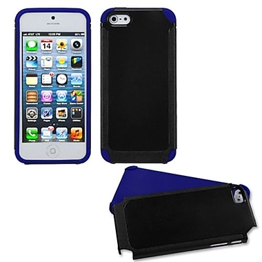Insten® Fusion Protector Cover F/iPhone 5/5S, Black/Dark Blue Frosted