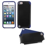 Insten® Fusion Hybrid Cover For iPod Touch 5th Gen, Black/ Dark Blue