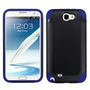 Insten® Frosted Fusion Protector Cover For Samsung Galaxy Note II, Black/Dark Blue