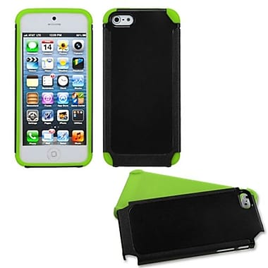 Insten® Fusion Protector Cover F/iPhone 5/5S, Black/Green Frosted